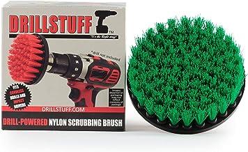 Drillstuff cambio rápido del eje verde-Medium Taladro Brush- Poder Cepillo de accesorio de fresadora green-medio