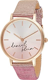 Daniel Klein Trendy Ladies - Silver Dial Pink Band Watch - DK.1.12643-4