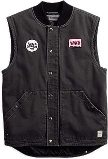 HARLEY-DAVIDSON Official Men's Quilted Slim Fit Workwear Vest, Black