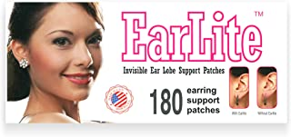earlite 180 Invisible pendientes ear-lobe apoyo parches impermeable parches en bolsa de Ziplock