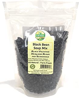 Black Bean Soup Mix Heirloom Beans All Natural Non GMO 1 Pound