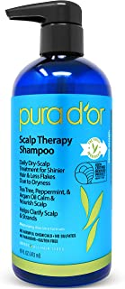 PURA D-OR Scalp and Dandruff Therapy Shampoo with Argan Oil and Tree Tea, 16 fl. oz