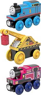 Thomas & Friends Fisher-Price Small Engine, 3 Pack, These Wood Toy Trains Help Kids Experience a World of Imaginative Play as They Craft Stories for These Beloved Characters.