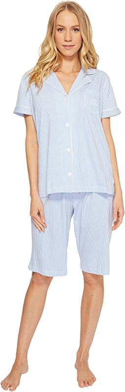 LAUREN Ralph Lauren - Short Sleeve Notch Collar Bermuda PJ Set