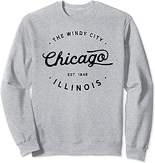 Classic Vintage Retro Chicago Illinois Windy City Sweatshirt