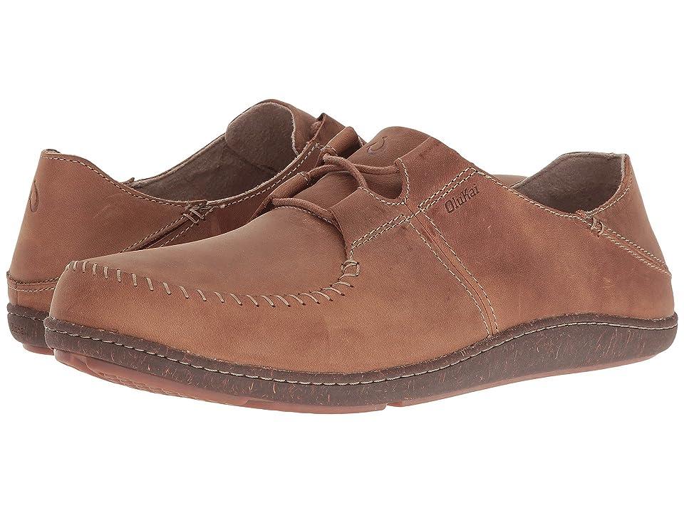 OluKai Honua Leather (Ecru/Ecru) Men
