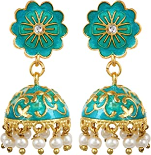 Best meenakari jhumka earrings Reviews