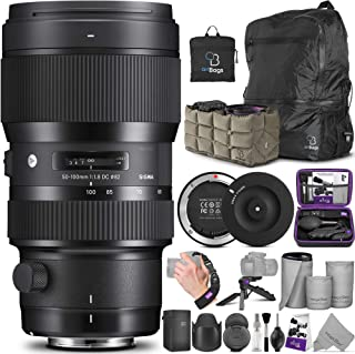 Sigma 50-100mm F1.8 Art DC HSM Lens for Canon DSLR Cameras + Sigma USB Dock with Altura Photo Essential Accessory and Trav...