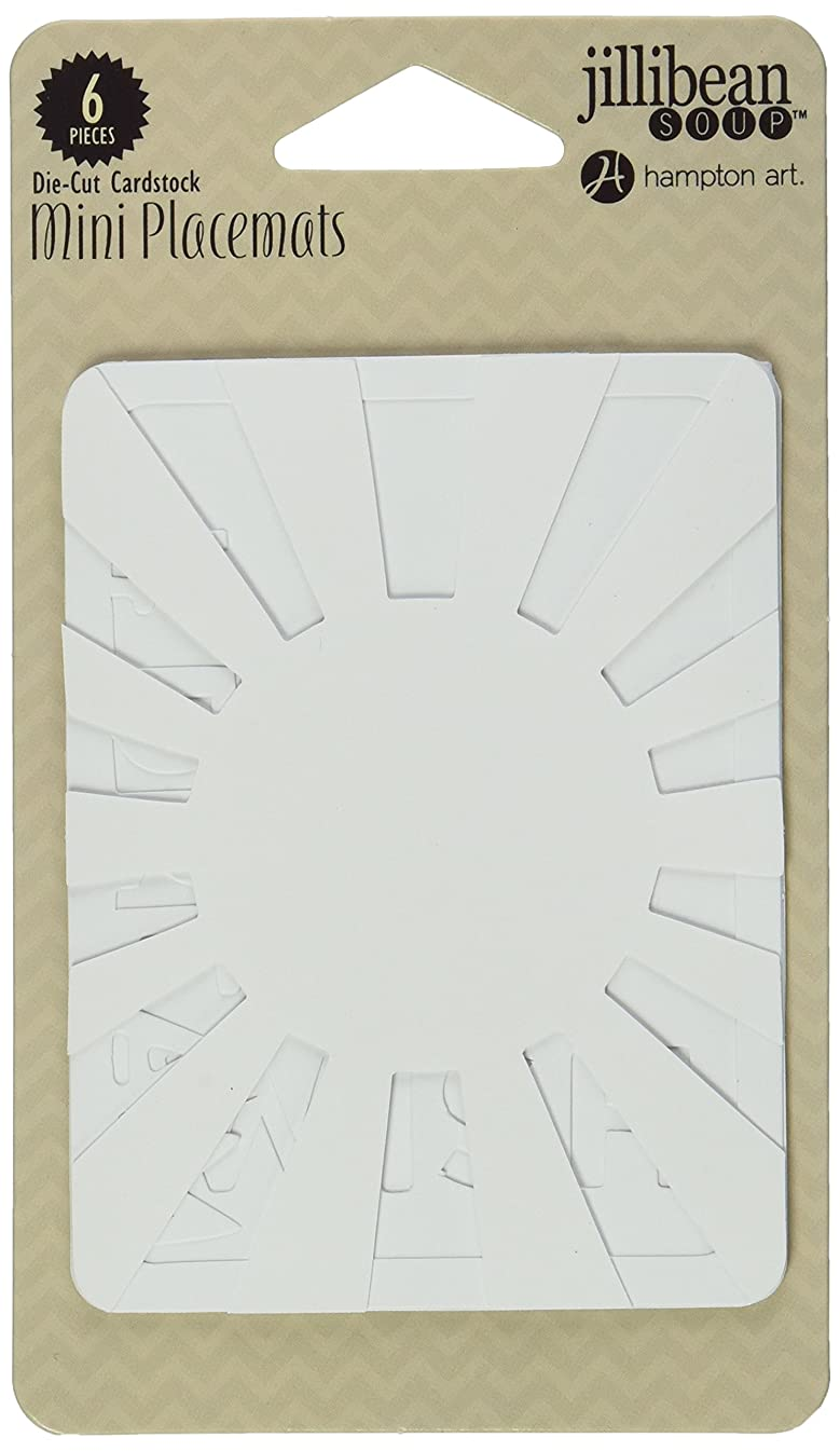 Hampton Art Mini Placemats Die-Cut Cardstock Cards, 3 by 4-Inch, Star Light, Star Bright, 6-Pack