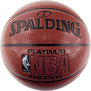 SPALDING斯伯丁 室内室外篮球 7号标准尺寸PU蓝球 NBA铂金系列74-605Y