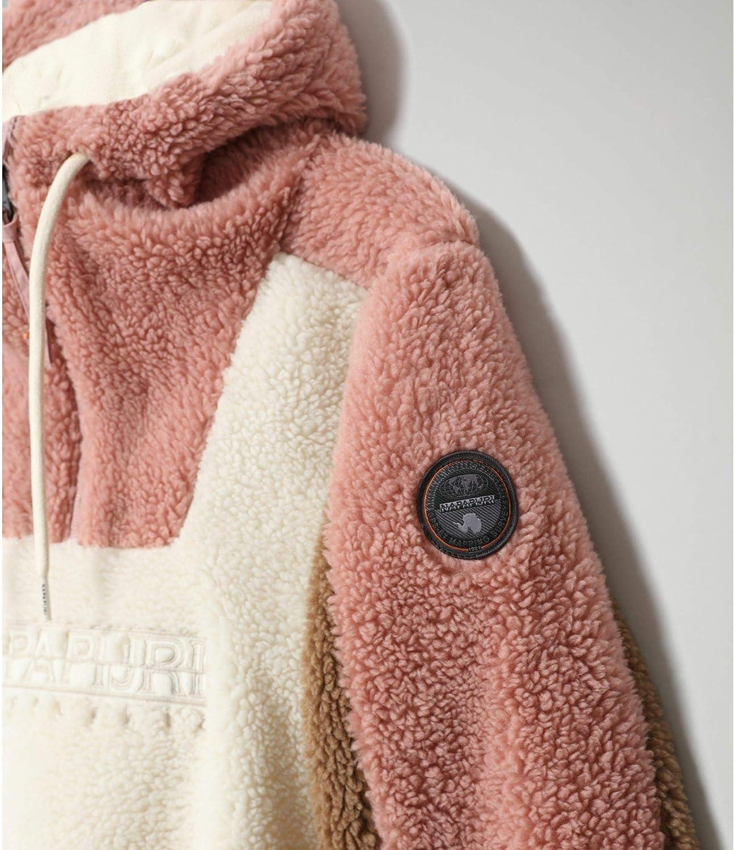 Napapijri Sweat-shirt à capuche pour femme en polaire lourde TEIDE Gris