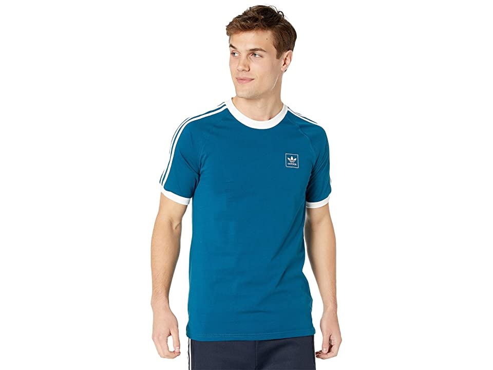Image of adidas Skateboarding Cali BB Tee (Legend Marine/White) Men's Short Sleeve Pullover