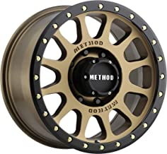 Method Race Wheels MR305 NV BRONZE Wheel with Method Black Street LOC and Zinc Plated Accent Bolts (0 x 9. inches /8 x 165 mm, 18 mm Offset)