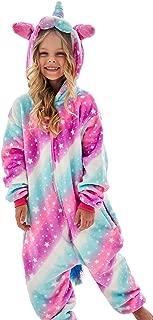 Girls Unicorn Pajamas Onesie, Animal Costume for Kids