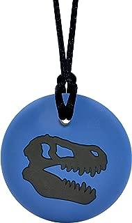 Munchables Dinosaur Skull - Sensory Chew Necklace for Boys (Navy/Black)