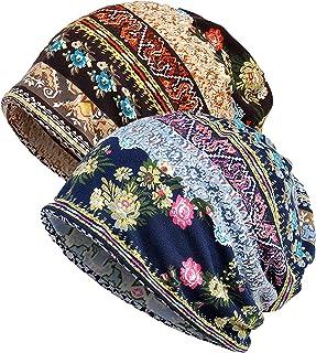 Womens Baggy Soft Slouchy Beanie Hat Stretch Infinity Scarf Head Wrap Cap