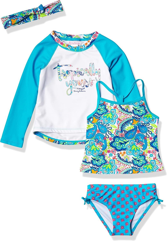 Tommy Bahama Nippon regular agency Girls' Rashguard Set excellence Swimsuit Bottom and