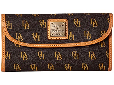 Dooney & Bourke Blakely Continental Clutch (Brown Tmoro/Btrsctch Trim) Clutch Handbags