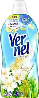 Vernel Kwiat migdałów, płyn do płukania, 72 (1x72) pranie, zapewnia długotrwały zapach i bajecznie miękkie pranie