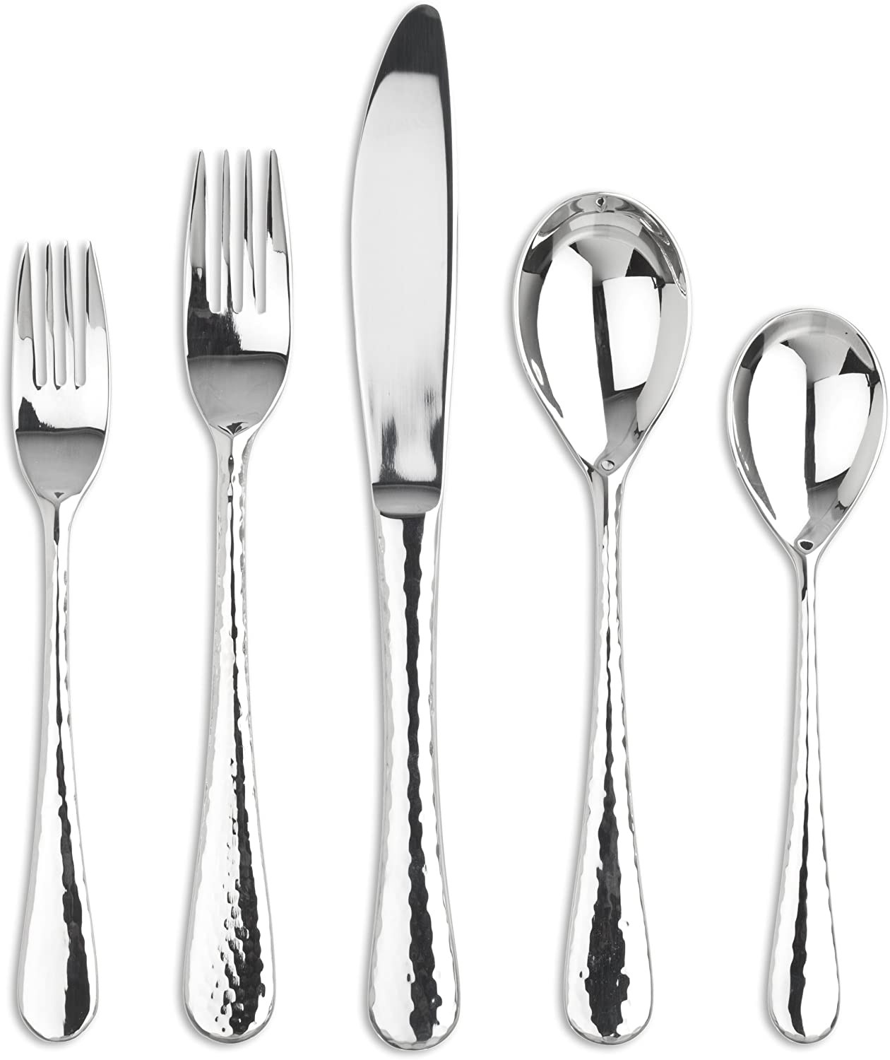Ginkgo International Shimmer 20-Piece Stainless Steel Flatware Place Setting, Service for 4