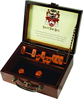 Front Porch Classics Circa Shut-the-Box, Wooden 9 Number Dice Game with Case for Travel, for Adults and Kids Ages 8 and Up