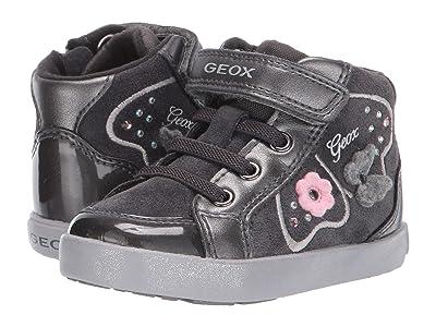 Geox Kids Kilwi 62 (Toddler) (Black/Charcoal 2) Girls Shoes