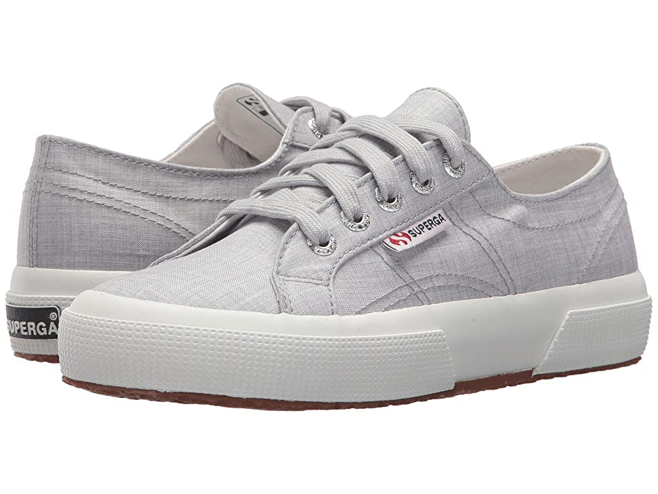 Superga 2750 Fabrishirtu Sneaker (Light Grey) Women's Shoes, Gray