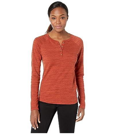 ExOfficio BugsAway(r) Novais Henley Long Sleeve Shirt (Rust Heather) Women