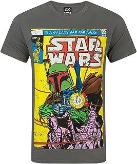 Star Wars Boba Fett - Camiseta para Hombre, Color Gris