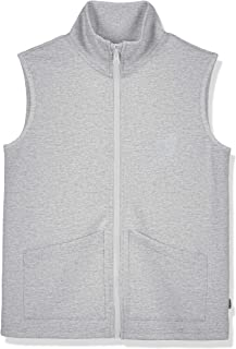 Kid Nation Kids Unisex Sport Fabric Sleeveless Outwear with Patch Pockets Zip Up Vest 4-12 Years