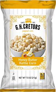 G.H. Cretors Honey Butter Kettle Corn,  7.5 Ounce Bags (Pack of 12)