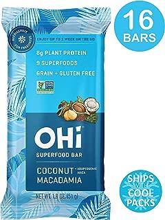 OHi Coconut Macadamia, 16 Refrigerated Superfood Bars