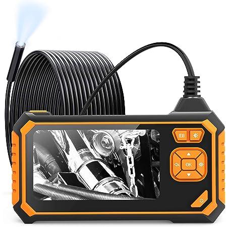 Kecheer Endoskope Handheld Industrielle Endoskop Inspektionskamera Eingebaute 8 Leds 8 Mm Linse Mit 4 3 Zoll Hochauflösendem 1080p Bildschirm Kabel 10m 5m 2m Küche Haushalt