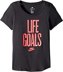 Nike Kids - Sportswear Life Goals Scoop Tee (Little Kids/Big Kids)
