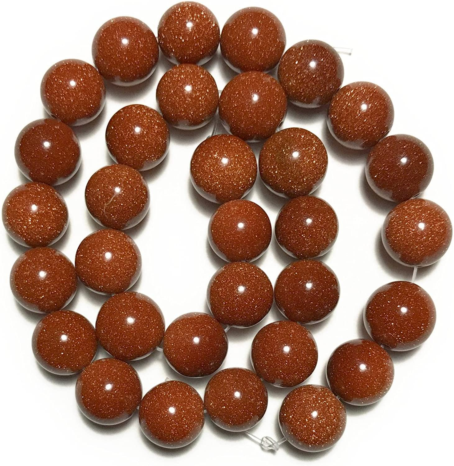 [Stone Power Stone beads] goldstone (golden sands) MaruTama beads 12mm (1 series about 40cm)