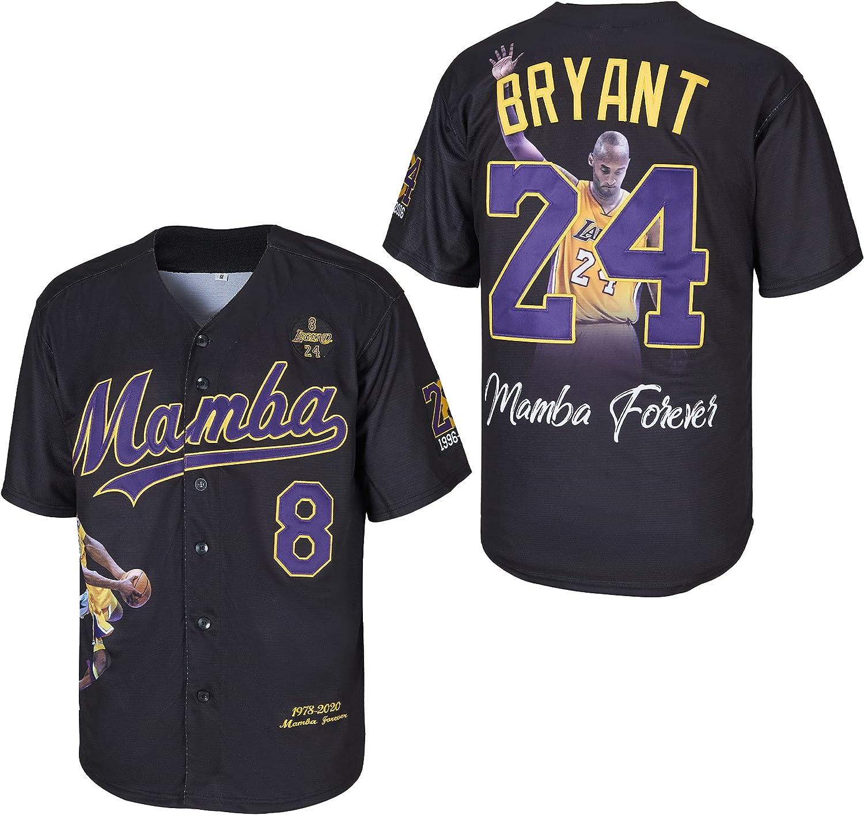 Men's 24 Legend 8 Mamba Forever San Jose Mall Baseball Seasonal Wrap Introduction Jersey Stitched Bryant