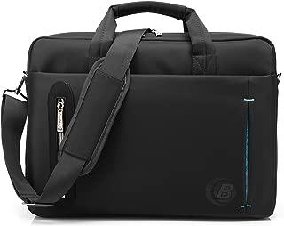 CoolBELL 17.3 inch Laptop Bag Messenger Bag Hand Bag Multi-compartment Briefcase Waterproof Nylon Shoulder Bag For Laptop/Ultrabook/HP/Macbook/Asus/Lenovo/Men/Women/Business (Black)