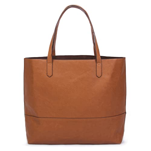 Overbrooke Large Vegan Leather Tote - Womens Slouchy Shoulder Bag with Open  Top 359ea5f142f8c