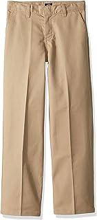 Dickies Boys' Big Flexwaist Flat Front Straight Leg Pant
