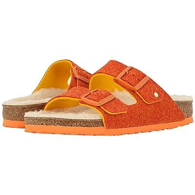 Birkenstock Arizona Wool (Doubleface Orange) Women