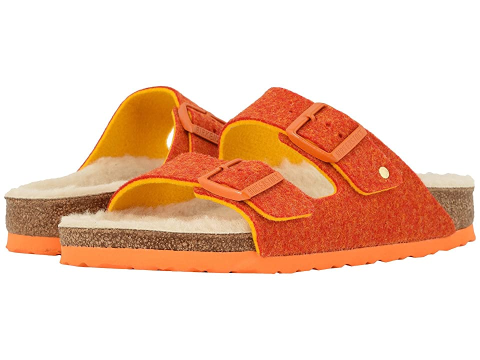 Birkenstock Arizona Wool (Doubleface Orange) Women