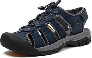 SAGUARO Sandały męskie zamknięte sandały trekkingowe antypoślizgowe sandały turystyczne rozm. 40-46