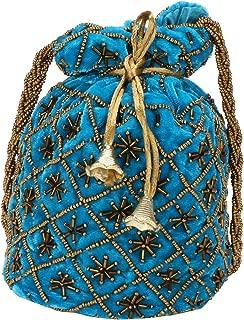 oIndian Potli Bag for Wedding, Designer Bridal Clutch/Jewelry Pouch/Worship Potli Bag for Girls & Women