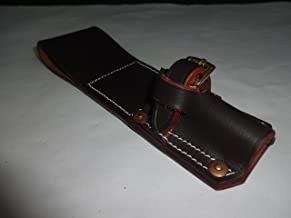 warreplica WW1 SMLE Bayonet Frog Light Horse Pattern Dark Brown Leather Reproduction