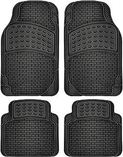 OxGord Tactical Floor Mats (Pack of 4) All Season Rubber - Black