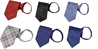 Sponsored Ad - Zipper Ties for Men 6 PCS Pre-tied Necktie Mixed Lot By Tiger Mama