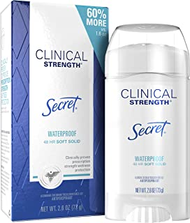 Secret Antiperspirant Clinical Strength Deodorant for Women, Soft Solid, Waterproof, 2.6 oz