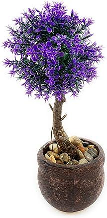 Nyrwana Bonsai Wild Plant Artificial Plant with Pot 1pc (Blue)