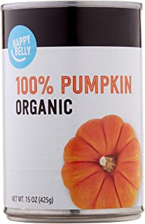 Amazon Brand – Happy Belly Organic 100% Pumpkin, 15 Ounces