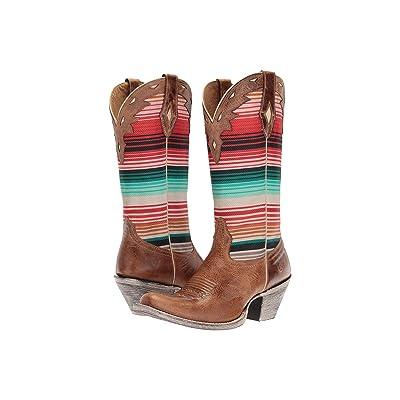 Ariat Circuit Cheyenne (Crackled Tan/Southwestern Serape) Cowboy Boots